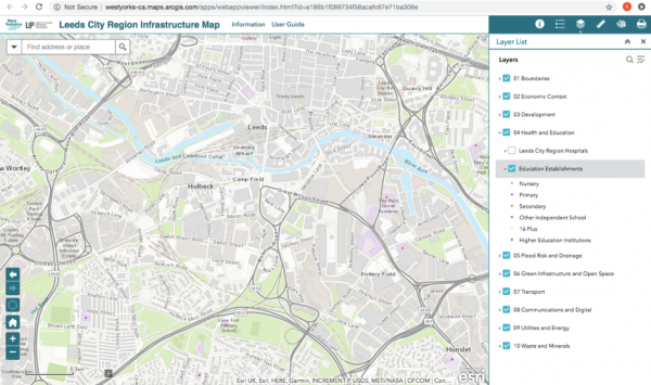 Leeds CIty Region interactive map - sample 30 Nov 18
